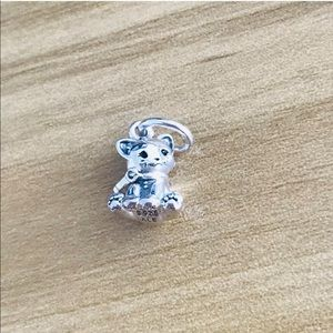 New! Authentic PANDORA Silver 925 ALE Cat  Charm